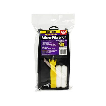 Uni Pro Microfibre Roller Kit timber-woodwork-accessories-online-unipro-microfibre-roller-100mm-melbourne-australia
