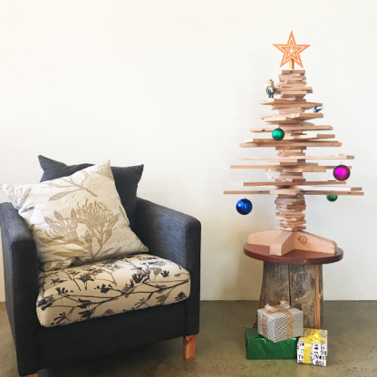 recycled timber christmas tree melbourne australia green eco sustainable